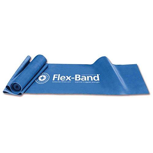 STOTT PILATES Flex-Band Exerciser Extra Strength (Blue), 6 foot 5 inch / 198 cm