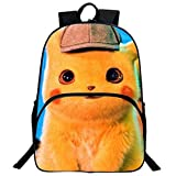 Mochila Pokemon Niños, Mochila Detective Pikachu Escolar para Infantil y Niñas Unisex Bolsa para Estudiantes Adolescentes Portátil Viaje Hombro Mochila Backpack para Mujeres Hombre (7)