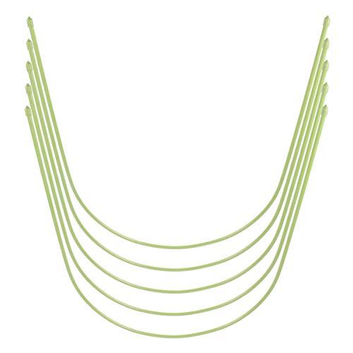 Hemoton 5PCS Gewächshaus Reifen gewächshaus Hoops Stahl Kunststoffbeschichtete Bogen Stützreifen Garten Wachsen Tunnel Reifen Gartengewebe Gartenpfähle Gartengebrauch Gewächshausteile