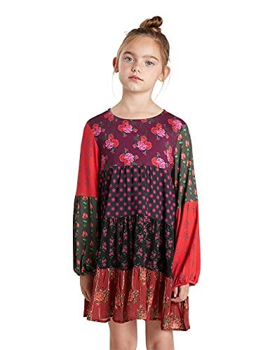 Desigual Vest_Celia Vestido Casual, Rojo, 9-10 Años para Niñas