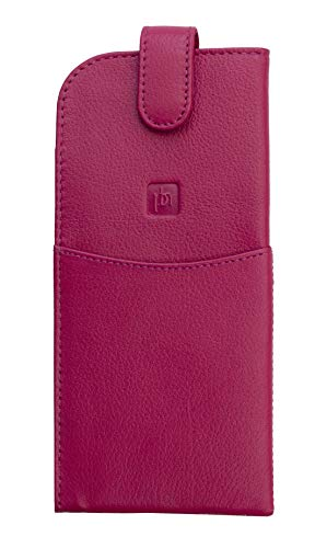 berry leather spectacle glasses case