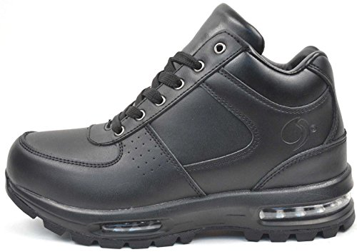 LABO Men's Black Hiking Leather Boot Air Heel 5712 10