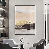 Pintura abstracta moderna lámina de oro textura lienzo arte para sala de estar dormitorio carteles e impresiones nórdicos cuadro de pared 40x60cm bronce