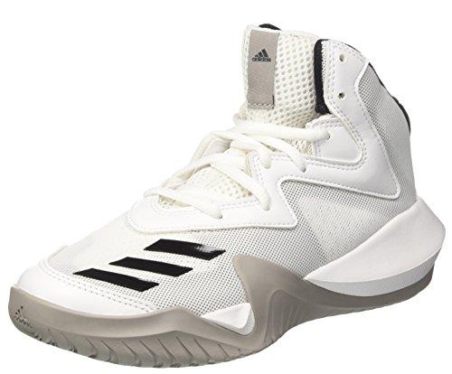 adidas Crazy Team K, Zapatillas de deporte para Unisex niños, Blanco (Ftwbla / Negbas / Grpumg), 28