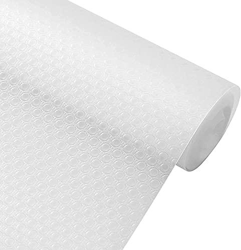 LOMISPI Tapis Fond de Tiroir Antiderapant Non-adhésif, DIY EVA Tapis de Frigo Antibacterien, Tapis pour Tiroir Placard Refrigerateur Rraicheur Etagere Camping, sous Cuisine (30cmx150cm(11.8'x59'))
