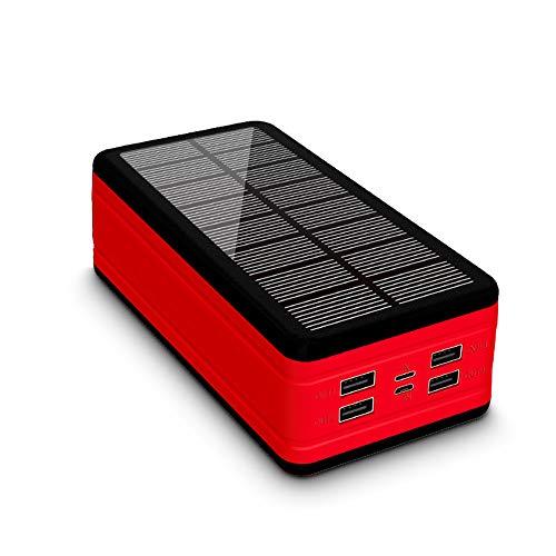 50000mAh Banco de energía Solar de Gran Capacidad Cargador portátil de Gran Capacidad LED Poverbano al Aire Libre Impermeable para iPhone Xiaomi Samsung