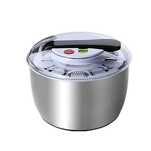 Essiccatore per insalata in acciaio inox, grande capacità facilmente centrifuga per lavare e asciugare le verdure