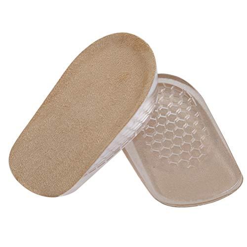 BESTOYARD 1 cm Plantillas invisibles para aumentar la altura Medias plantillas para absorción de golpes Altura del talón S (albaricoque)