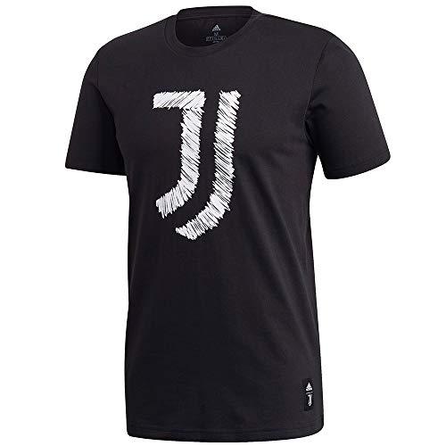 adidas Juventus FC Temporada 2020/21 JUVE DNA GR tee Camiseta, Unisex, Black/White, L