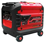 PowerSmart PS52 3000W Portable Inverter Generator, Red/Black