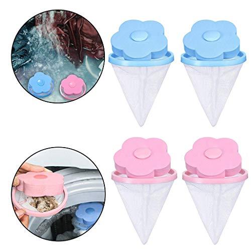Lomire® 4 Stück Blume Form Mesh Filter Tasche Filterbeutel Laundry Clean Wäscheball Waschmaschine Filtration Haar Entfernung Gerät Haus Reinigung Werkzeuge