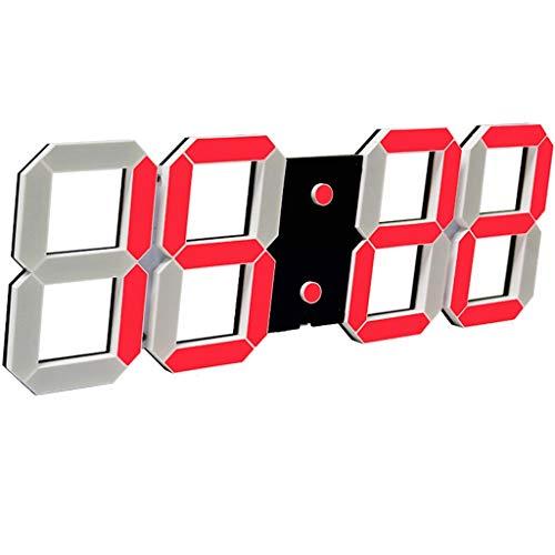 @Reloj de pared Reloj De Pared Pantalla Grande Digital LED Alarma Sleeper Pesado 16 Alarmas Configuraciones Relojes De Escritorio Sala De Estar Decoración Dormitorio Temperatura 20m Control Remoto Fec