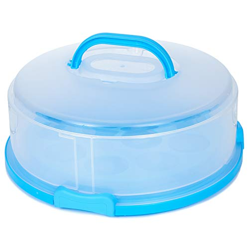 Plastic Cake Carrier Cover Container + Cupcake Holder – Expands &...