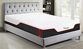 Dynasty Mattress 12-Inch CoolBreeze2 Memory Foam Gel Bed with Silk Cover Extra Firm (Queen)