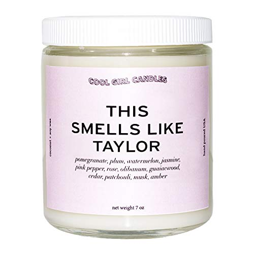 Cool Girl Candles | This Smells Like Taylor Swift Scented Candle | All Natural Coconut Soy Wax | The Best Strong Scented Candles for Home Fragrance | Clean Burning | Funny Gifts | 8.5 fl oz