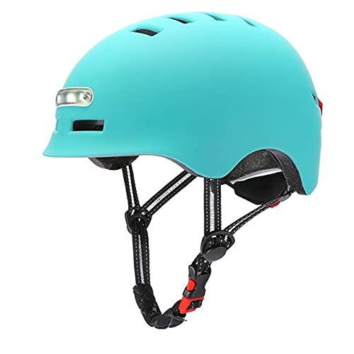Casco de Bicicleta de Ciclismo MTB, Cascos de Bicicleta de Carretera, Molde integralmente, iluminación LED, Casco de Ciclismo Reflectante, Casco de Ciclismo-Blue-1-L 58-61cm