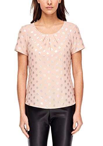 s.Oliver BLACK LABEL Damen 29.912.12.5348 Bluse, Rosa (Powder Peach AOP 20a6), (Herstellergröße: 38)