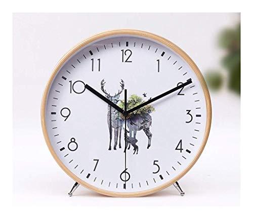 Yxxc Reloj Retro - Reloj de Mesa Reloj de Mesa con Personalidad y Creativo Reloj de péndulo de Escritorio de péndulo silencioso electrónico, Utilizado en l