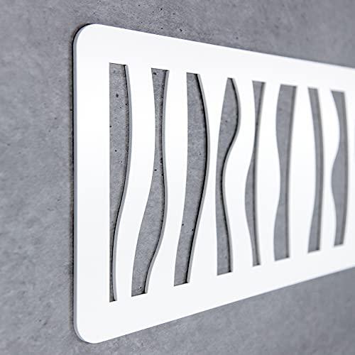 Cabecero Cama Decorativo Económico en PVC - Tipo Forja. Modelo - Africa (150cm x 60cm, Blanco)