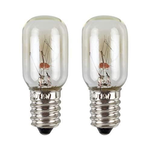 LOHAS 15W E14 Kühlschranklampe, Warmweiß, Dimmbar, Nähmaschinen Lampe, Salzlampe, Maschinenlampe, Mikrowellenlampe, Dunstabzugshaube, 360 Grad Abstrahlwinkel, 220-240V AC/DC, 2er Pack