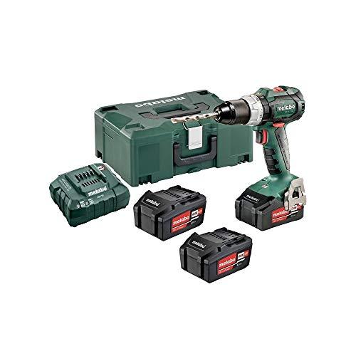 Metabo 602325960 Akkuschrauber BS 18 LT BL Set 18V, Bürstenlos - inkl. 3 CAS Li-Power Akkupacks (18 V/4,0 Ah); Ladegerät und MetaLoc-Koffer