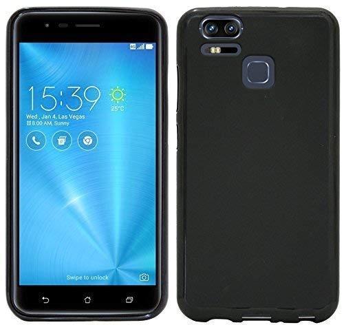 cofi1453 Silikon Hülle kompatibel mit ASUS ZENFONE Zoom S (ZE553KL) Tasche Case Zubehör Gummi Bumper Schale Schutzhülle Zubehör in Schwarz