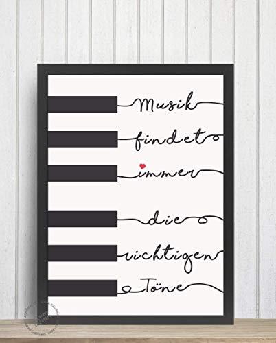 POSTER-Schrift Gestaltung für Musiker/Pianisten Druck Spruch Print für Klavier Töne