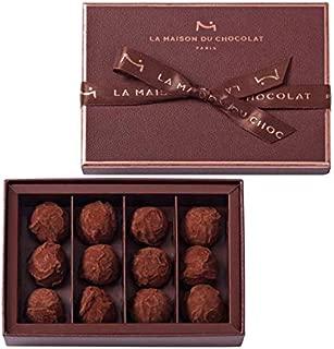 メゾンデュショコラ LA MAISON DU CHOCOLAT トリュフ プレーン 12粒入り メゾンドショコラ チョコレート バレンタイン バレンタインデー ホワイトデー 贈答 ギフト