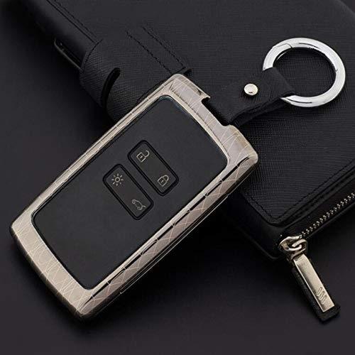 JXSMQC Zinklegering autosleutel beschermhoes beschermer houder sleutels met sleutelhangers autosleutel geval.Voor Renault Koleos Kadjar