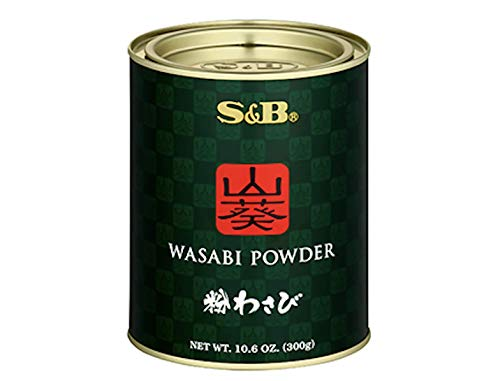 [Product of Japan] S&B Premium (山葵) Wasabi Powder, All Natural & No Color Added - 300 Gram