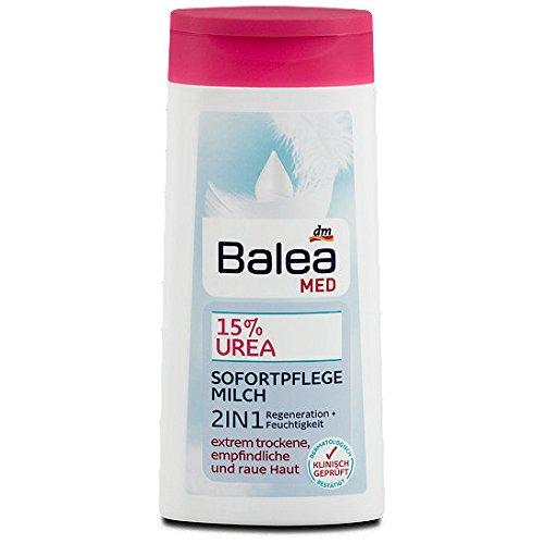 Balea Med 15{ab10775cf83312003a9b7d223c5346fc4c5e8d0a5ea0ce01623466066a41551d} Urea Sofortpflege Milch 2in1, 250 ml