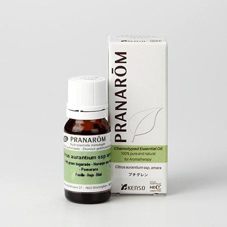 【プチグレン 10ml】→ビターオレンジの葉から抽出した、フレッシュで爽やかな香り♪(リフレッシュハーブ系)[PRANAROM(プラナロム)精油/アロマオイル/エッセンシャルオイル]P-38