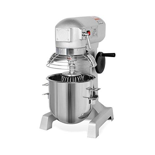 vertes 10 Liter Profi Teigknetmaschine mit Planetenrührwerk (10 Liter Rührschüssel, 370 Watt Elektromotor, umfangreiches Zubehör)