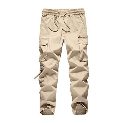 Ocio Color SolidoTalla Grande En General Pantalón Cómodo Hombres