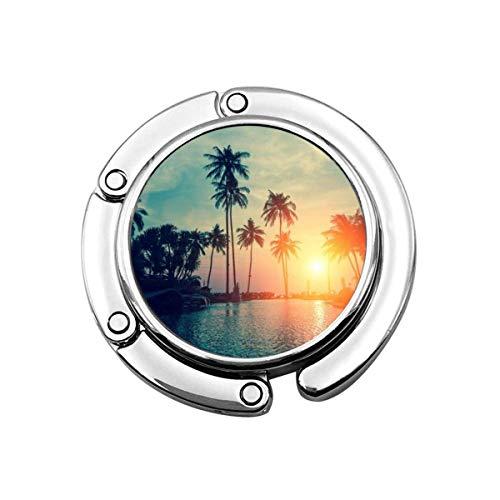 Geldbörse Hook Beach Sunset Print Charm Geldbörse Handtasche Tisch Schreibtisch Tasche Haken - Hakenhalter