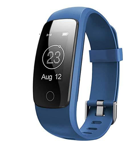 Montre Connectée,Willful SW331 Bracelet Connecté Tracker d'Activité Montre Cardio Sport avec Cardiofréquencemètre,Sommeil,Podomètre,Calories,Mode Multi-Sport pour iPhone Android Femme Homme Bleu