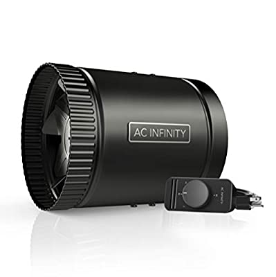"""AC Infinity RAXIAL S6, Inline Booster Duct Fan 6"""" with Speed Controller - Low Noise Inline HVAC Blower Can Fan for Basements, Bathrooms, Kitchens, Workshops"""
