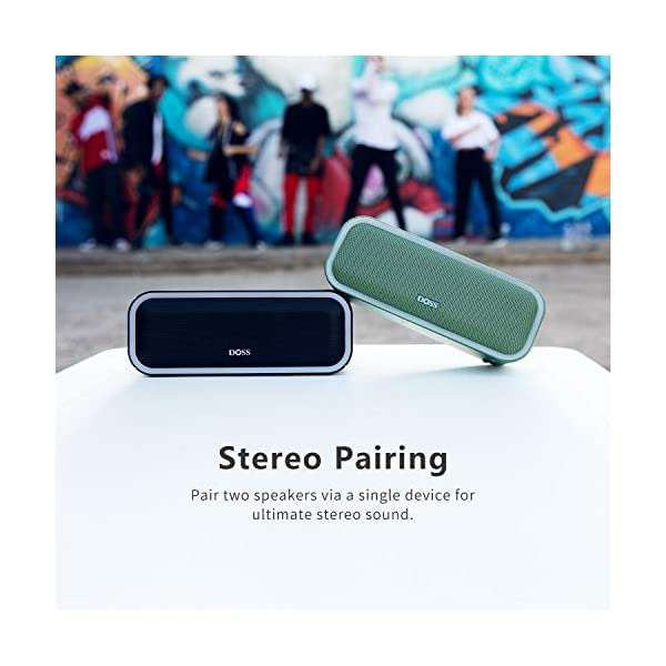 Wireless Bluetooth Speaker with 24W Impressive Sound, Booming Bass, Wireless Stereo Paring, Mixed Colors Lights, IPX5 Waterproof, 15 Hrs Battery Life, 66 ft Bluetooth Range 6