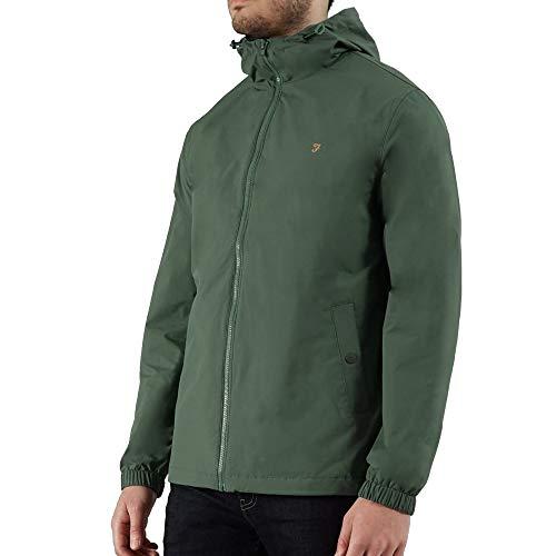 Farah verde militare Smith hd zip con cappuccio giacca leggera XXL MILITRY GREEN