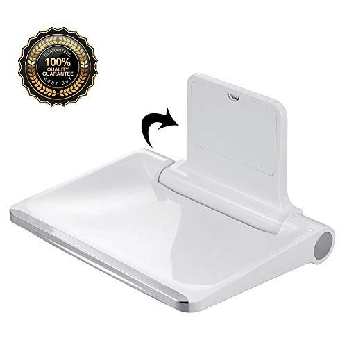 M-TOP Faltbarer Duschstuhl, Wandmontage, Duschsitz, Medizinische Bank, zusammenklappbarer Duschhocker, für bis zu 200 kg, Spa Bank, klappbarer Sitz zum Waschen von Zehen, B