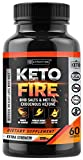 Keto Weight Loss MCT Pills - Keto Fire Exogenous Ketones BHB Capsules - Reach Ketosis Faster - 60 Capsules