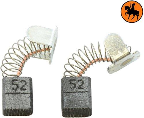 Buildalot Specialty koolborstels ca-07-83957 voor Makita freesmachine 3705-5x8x9,5 mm - met veren, kabel en stekker - vervanging voor originele onderdelen CB-52