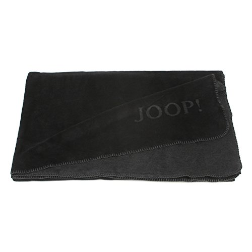 Joop! Uni-Doubleface Decke 150/200 schwarz-anthrazit