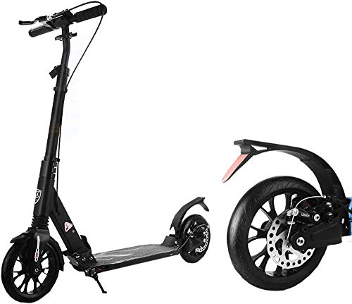 Folding Tretroller Mit Scheibenbremsen Aluminiumrahmen City Roller Für Erwachsene Teenager Leicht Höhenverstellbarer Griff Doppelte Federung City Roller