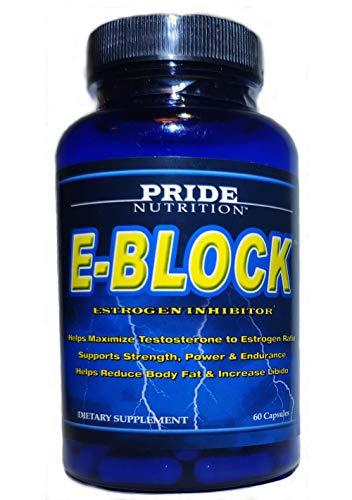 Estrogen Blocker for Men & Hormone Balance for Women- E-Block- Natural PCT Aromatase Inhibitor Anti Estrogen Acne Support Formula Post Cycle Therapy SupplementPlus DIM, Calcium-d-glucarate, Chrysin
