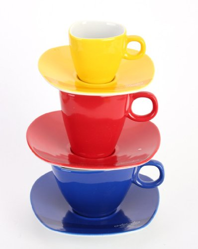 Alfredo Trendgeschirr Multicolor Tassenturm für Espresso, Cappuccino & Caffé
