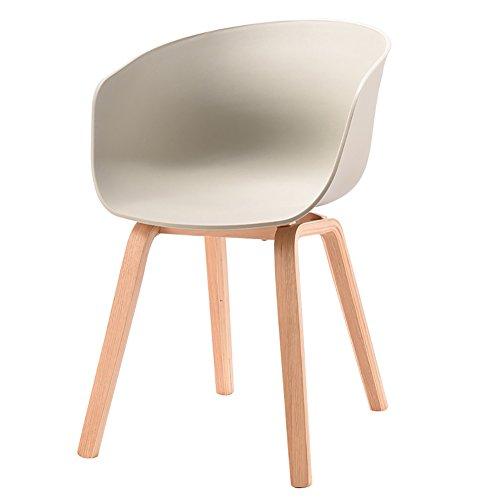 MENA Uk Designer Stuhl Sessel Stativ Hochwertiger Bent Wood Panton Designer PP Stuhl (Farbe : Grau, größe : H75cm)