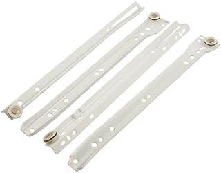 eDealMax del gabinete del cajón del metal blanco 11,8 Silencio Juego de ruedas Pista