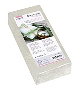 GLOREX 61600–Glycerin Jabón Öko Transparente con Aloe Vera, Transparente, 1500 g