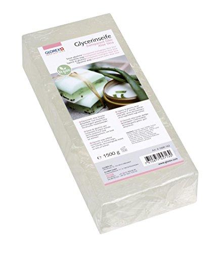 Glorex 6 1600 162 GmbH Glycerin-Seife Öko 1500g mit Aloe Vera transparent
